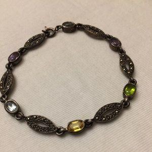 Vintage Rhinestone Bracelet, Vintage Crystals